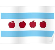 Chicago Teacher Flag Poster