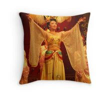 Traditional Chinese Dancer Throw Pillow