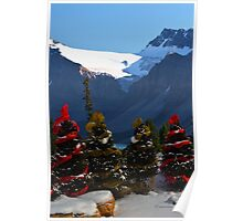 Christmas in the Canadian Rockies Poster