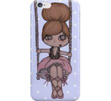 LITTLE GIRL AERIALIST. BLUE DOTS iPhone Case/Skin