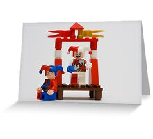 Lego Jesters Greeting Card