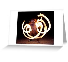 Fire Reflection Greeting Card