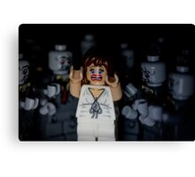 Lego Zombies - close up Canvas Print