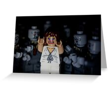 Lego Zombies - close up Greeting Card