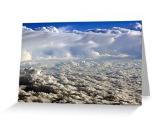 White Fluffy Clouds Greeting Card