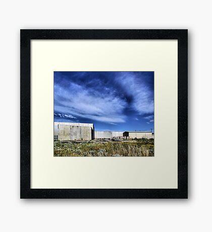 Transitional Industrial Utopia Framed Print