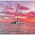 Pink Sunset at Moreton Island by Alexey Dubrovin