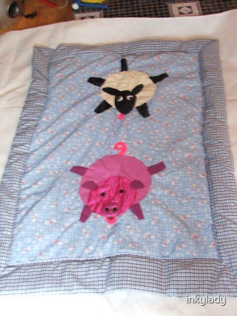 crazy sheep & piggy  by inkylady