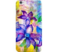 Clematis Summer... iPhone Case/Skin
