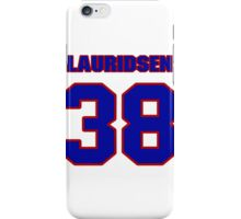 National Hockey player Oliver Lauridsen jersey 38 iPhone Case/Skin