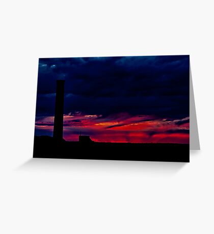 """Fire at the Horizon"" Greeting Card"