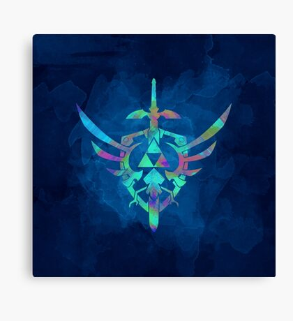 Skyward Sword Blue Canvas Print