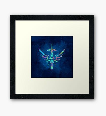 Skyward Sword Blue Alt Framed Print