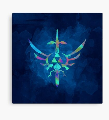Skyward Sword Blue Alt Canvas Print