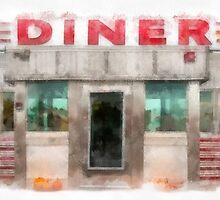 Classic Americana Diner by Edward Fielding