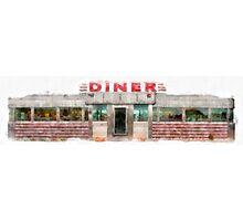 Classic Americana Diner Photographic Print