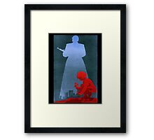 What about the children? Framed Print