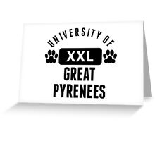 University Of Great Pyrenees Greeting Card