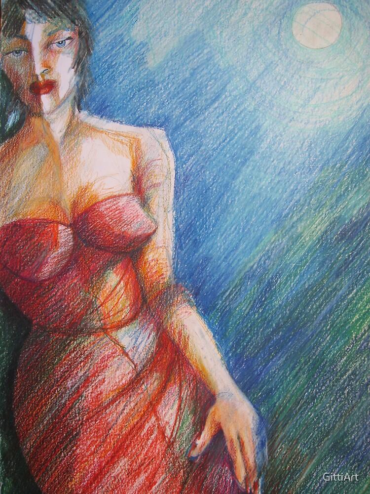 MOONSHINE LADY by GittiArt