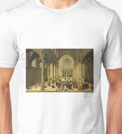 Cornelis Van Dalem - Church Interior With Christ Preaching To A Congregation, 1570 Unisex T-Shirt
