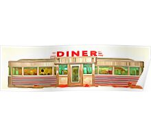 Classic Americana Diner Pop Poster