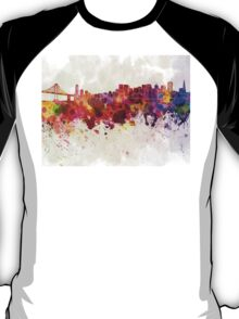San Francisco skyline in watercolor background T-Shirt