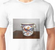 Ornate Container with Flowers and Birds Unisex T-Shirt