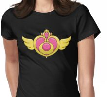 Sailor Moon Crisis brooch Womens Fitted T-Shirt