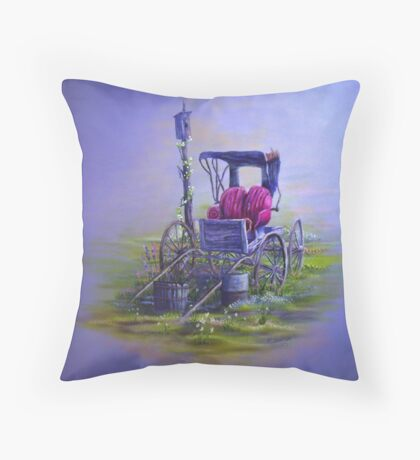 Old Buggy Throw Pillow