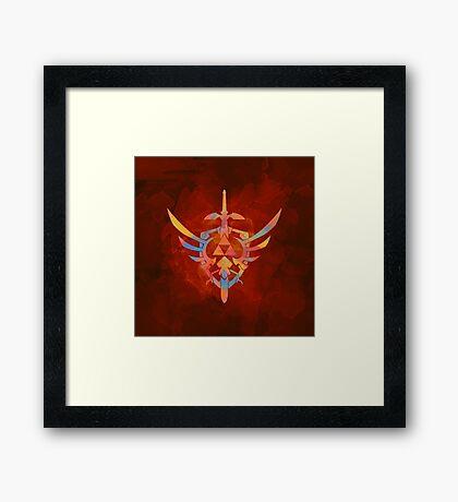 Skyward Sword Orange Framed Print
