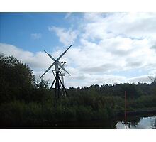 Norfolk Broads windmill Photographic Print