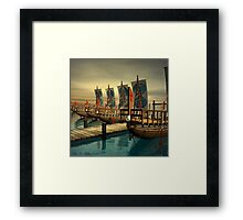 Egyptian Canal Boats Framed Print