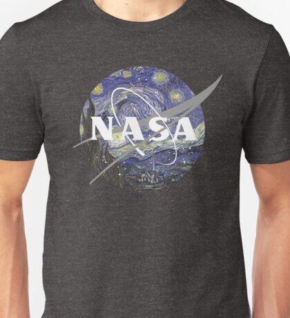 Starry Night Nasa Logo Unisex T-Shirt