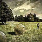 Landscape with stones by Kurt  Tutschek