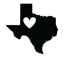 Texas is Where the Heart is (Black) by Ariel James