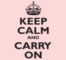 KEEP CALM & CARRY ON, BE BRITISH, UK, PROPAGANDA, IN BLACK Kids Clothes