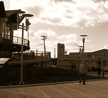 Asbury Park, NJ - The Boardwalk-Old School by AnneRN