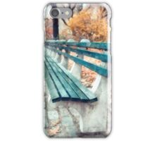 Central Park benches in New York City iPhone Case/Skin