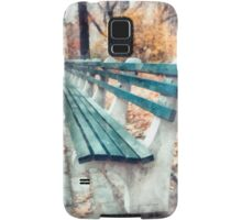 Central Park benches in New York City Samsung Galaxy Case/Skin