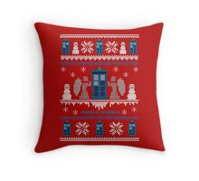 Who-liday Sweater Throw Pillow