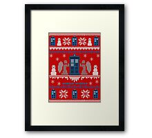 Who-liday Sweater Framed Print