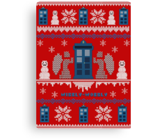 Who-liday Sweater Canvas Print