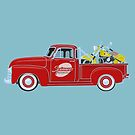 1953 Chevy Pickup Truck with 1953 Indian Chief Roadmaster by BurrowsImages