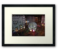 Piccadilly Snow Globe Framed Print