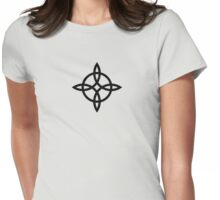 Witch`s Knot, Power Of 4 Elements, Magic, Mystic, Witchcraft, Wicca Womens Fitted T-Shirt