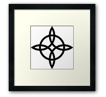Witch`s Knot, Power Of 4 Elements, Magic, Mystic, Witchcraft, Wicca Framed Print
