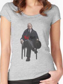 Raymond 'Red' Reddington - Red Alert Print Women's Fitted Scoop T-Shirt