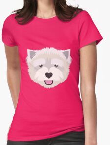 Westie Womens Fitted T-Shirt