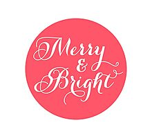 Merry and Bright, red dot Photographic Print