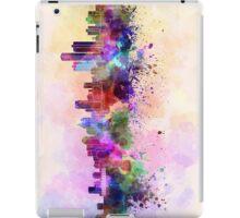 Detroit skyline in watercolor background iPad Case/Skin
